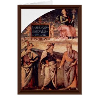 Frescoes In The Sala D'Udienza The Collegio Del Ca Greeting Card