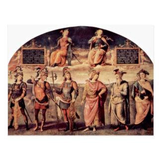 Frescoes In The Sala D'Udienza The Collegio Del Ca Postcard