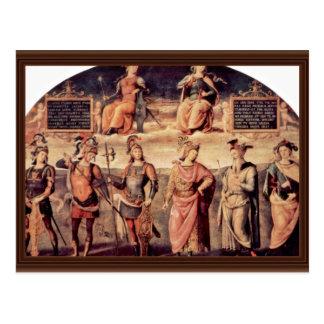 Frescoes In The Sala D'Udienza The Collegio Del Ca Postcards