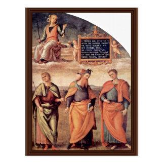 Frescoes In The Sala D'Udienza The Collegio Postcard