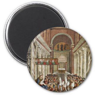 Frescoes On The Life And Deeds Of Enea Silvio Refrigerator Magnet