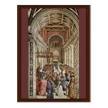Frescoes On The Life And Deeds Of Enea Silvio Postcard