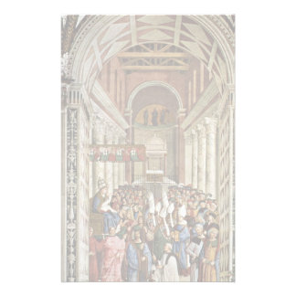 Frescoes On The Life And Deeds Of Enea Silvio Stationery Paper