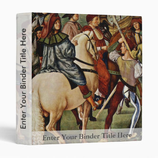Frescoes On The Life And Deeds Of The Enea Silvio 3 Ring Binders