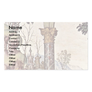 Frescoes On The Life And Deeds Of The Enea Silvio Double-Sided Standard Business Cards (Pack Of 100)