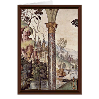 Frescoes On The Life And Deeds Of The Enea Silvio Greeting Card