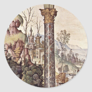 Frescoes On The Life And Deeds Of The Enea Silvio Classic Round Sticker