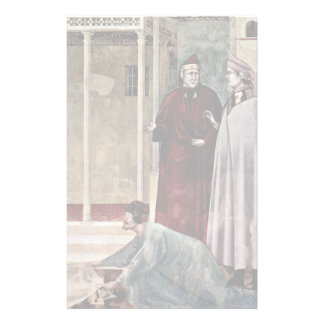 Frescoes On The Life Of St. Francis Of Assisi Personalized Stationery