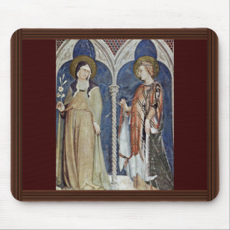 Frescoes With Scenes From The Life Of St. Martin Mousepad