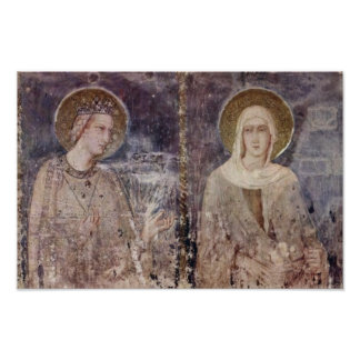 Frescoes With Scenes From The Life Of St. Martin Print