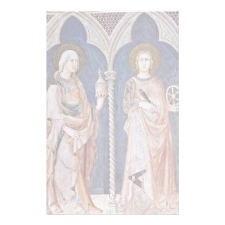 Frescoes With Scenes From The Life Of St. Martin Customized Stationery