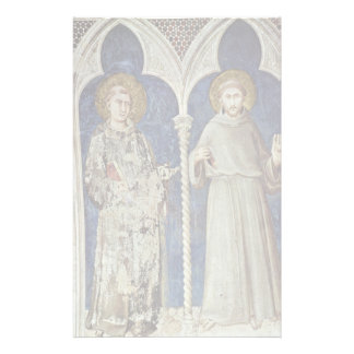 Frescoes With Scenes From The Life Of St. Martin Stationery Paper