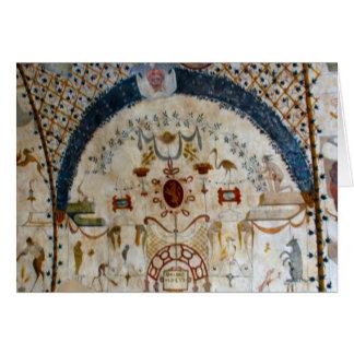 """Frescos de Assisi Italia IV "" Tarjeta De Felicitación"