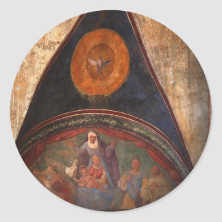 Frescos de Assisi Pegatina Redonda