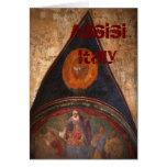 Frescos de Assisi Tarjeta De Felicitación