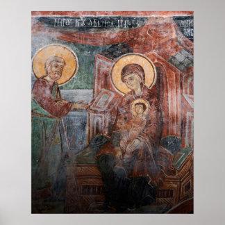 Frescos de la iglesia servia del siglo XIV, 2 Poster