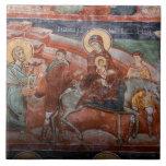 Frescos de la iglesia servia del siglo XIV, Azulejo Cuadrado Grande