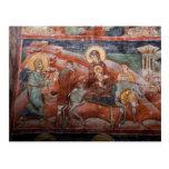 Frescos de la iglesia servia del siglo XIV, Postal