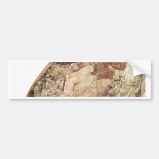 Frescos del viejo testamento en génesis en el clau pegatina de parachoque