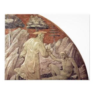 Frescos del viejo testamento en génesis en el clau invitación