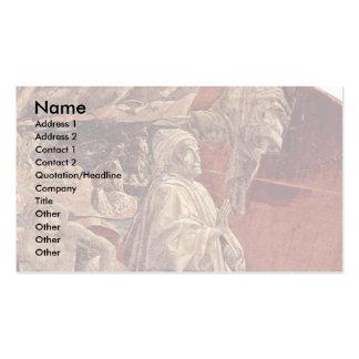 Frescos del viejo testamento en génesis en el clau tarjetas de visita