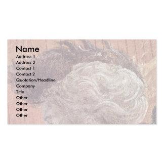 Frescos del viejo testamento en génesis en el clau tarjeta de negocio