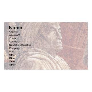 Frescos del viejo testamento en génesis en el clau tarjetas de negocios