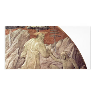 Frescos del viejo testamento en génesis en el clau tarjeta fotográfica personalizada