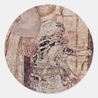 Frescos en el monumento grave del ² de Niccolo Pegatina Redonda