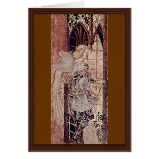Frescos en el monumento grave del ² de Niccolo Tarjeta De Felicitación