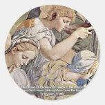Frescos en la capilla de Eleonora DA Toledo Pegatina Redonda
