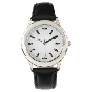 """Frescos estupendos """"AHORA"""" miran (blanco) el No3 Reloj De Mano"""