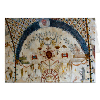"""""""Frescos of Assisi Italy IV"""" Greeting Card"""