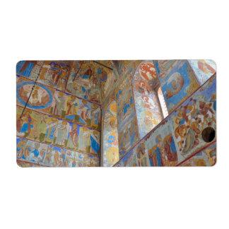 Frescos rusos etiqueta de envío