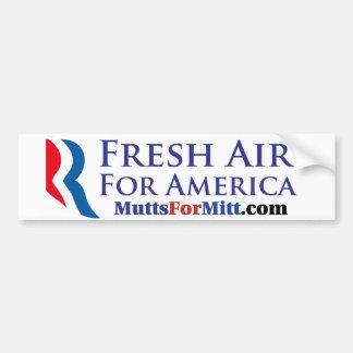 Fresh Air For America! Bumper Sticker