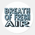 Fresh Air Round Stickers