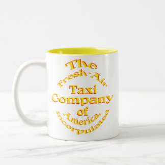 Fresh-Air Taxi Company of America Incorpulated Two-Tone Coffee Mug