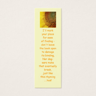 Fresh and Golden Sunflower Mini Business Card