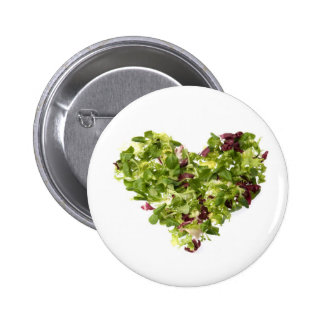 Fresh and healthy love pinback button