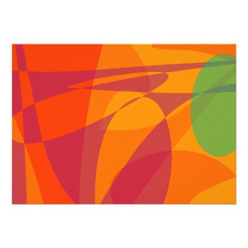 Fresh and Juicy Orange Invitation