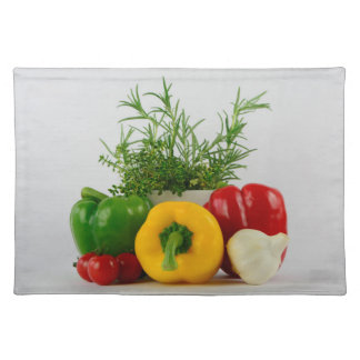 Fresh and tasty cloth placemat