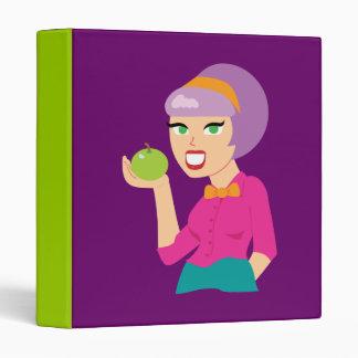 Fresh Apple Retro Girl Binders