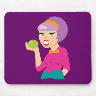 Fresh Apple Retro Girl Mouse Pad