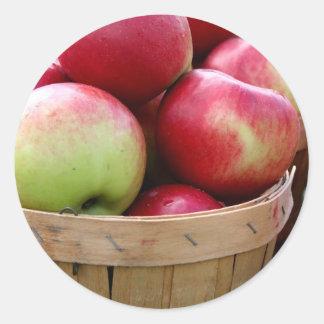 Fresh Apples Classic Round Sticker