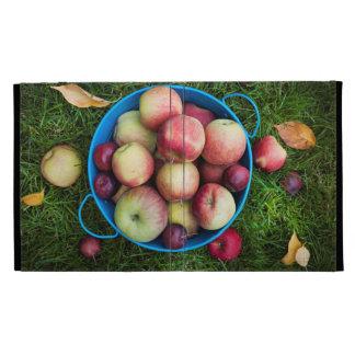 Fresh apples harvest iPad folio cover