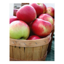 Fresh Apples in Basket at Farmers Market Flyer
