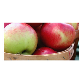 Fresh Apples Personalized Photo Card