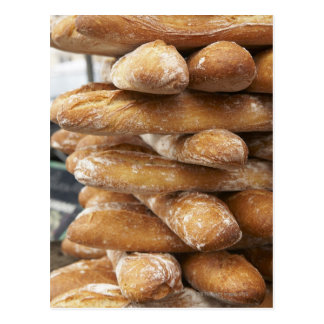 Fresh artisan baguettes postcards