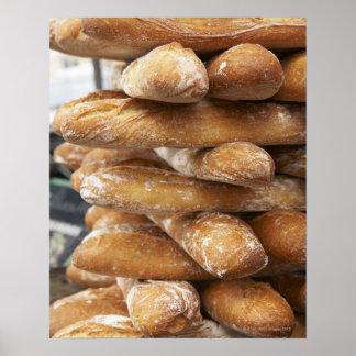 Fresh artisan baguettes poster