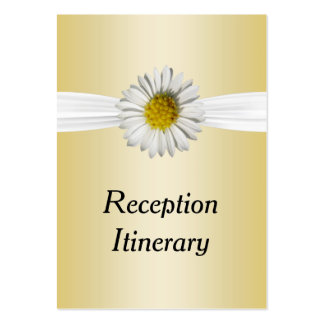 Fresh As A White & Yellow Daisy Flower Wedding Large Business Card